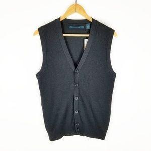 Perry Ellis Small Sleeveless Black Heather Vest